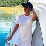 Grávida, Andressa Suita mostra ultrassom do segundo filho: 'Melhor sensação'