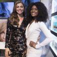 Grazi Massafera posa com Erika Januza em nova campanha da L'Oréal, no  Boulevard Olímpico, Rio de Janeiro, nesta quarta-feira, 7 de março de 2018