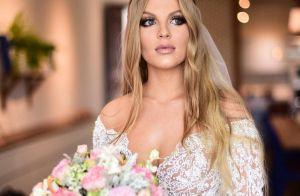 Luísa Sonza machucou ombro com vestido de casamento: 'Mais de 40 quilos'