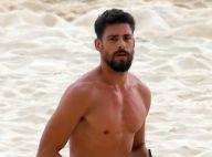 Solteiro, Cauã Reymond se exercita sozinho em praia do Rio de Janeiro. Fotos!