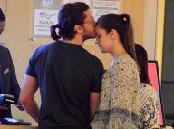 Camila Queiroz ganha carinho do noivo, Klebber Toledo, em shopping. Fotos!