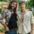 Johnny (Bruno Montaleone) diz a Gael (Sergio Guizé) que Mariano (Juliano Cazarré) esteve com Sophia (Marieta Severo) antes de desaparecer, na novela 'O Outro Lado do Paraíso'