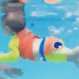 Filho de Sheron Menezzes pratica natação no Centro Integrado Bella, na Zona Sul do Rio de Janeiro