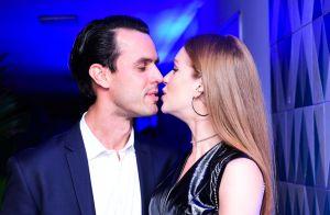 Marina Ruy Barbosa e o marido, Xande Negrão, se beijam em evento: 'Ele veio!'