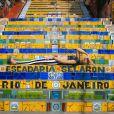 Fotografada na Escadaria Selarón, na Lapa, a transgênero Melissa Rodrigues inspirou a exposição 'M'