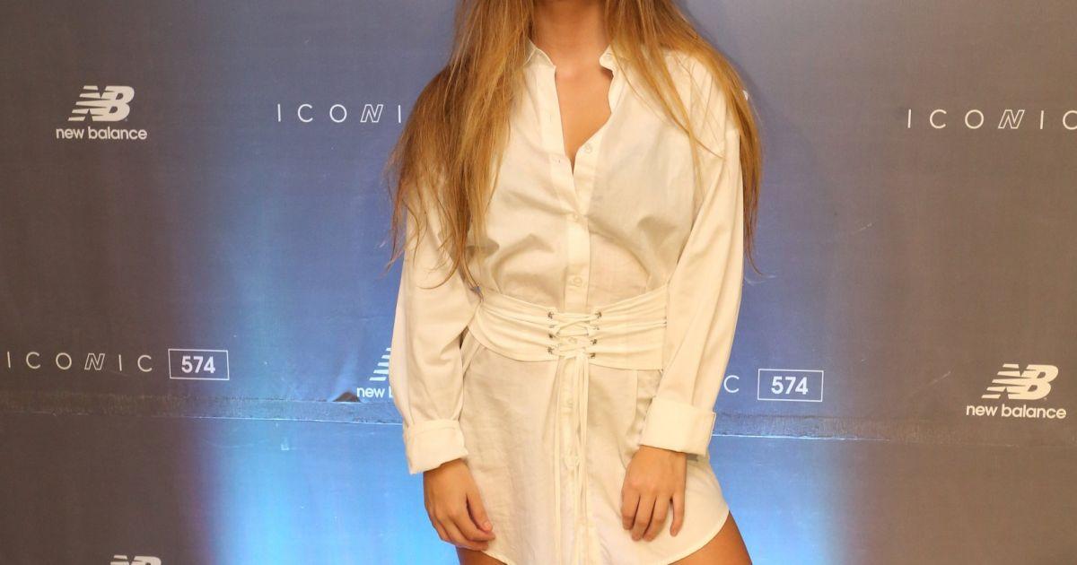 Bruna Griphao participou da festa da marca New Balance, no ...