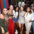 Bruna Marquezine se encontrou com Maiara, Ludmilla, Preta Gil e Toni Garrido na festa de aniversário de Carol Sampaio