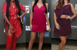 Famosas apostam em looks em vermelho, rosa e roxo para festa de promoter. Fotos!