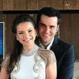 Milena Toscano e o empresário Pedro Ozores se casaram em novembro passado. Atriz foi pedida em casamento ao pular de paraquedas
