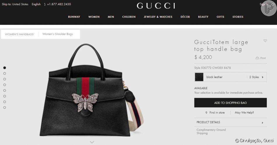 A bolsa de couro Gucci recebida por Simone de seu marido, Kaká Diniz, pode  ser comprada por cerca de R  13.698 no site oficial da grife. ab9c04895b