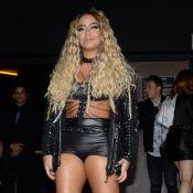 Rafaella Santos usa body de couro em festa. 'Bem rock and roll', diz estilista