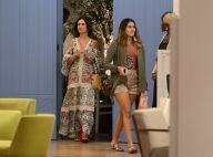 Fátima Bernardes usa vestido florido em passeio com as filhas gêmeas. Fotos!