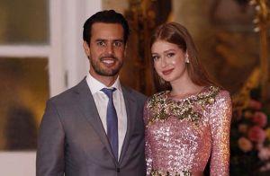 Marina Ruy Barbosa usa look rosa brilhoso Dolce & Gabbana em casamento na Bahia