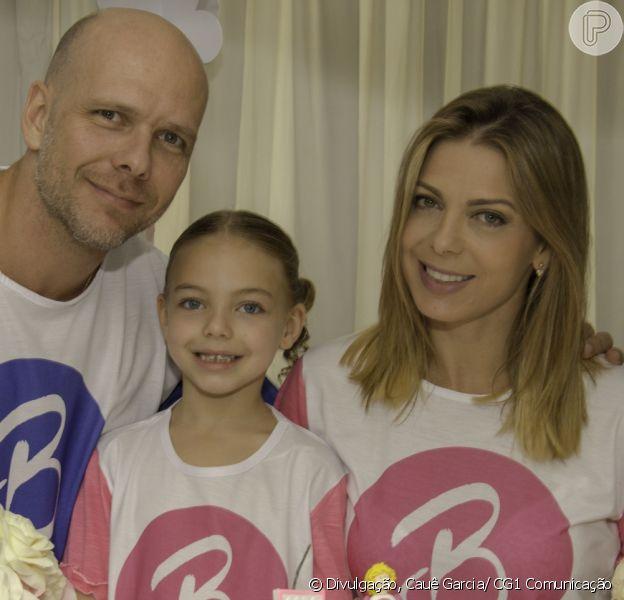 Sheila Mello e Xuxa comemoraram os 5 anos da filha, Brenda, com festa de pijama neste domingo, 25 de março de 2018