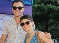 Bianca Bin e Sergio Guizé posam juntos no chá de bebê do filho de Rafael Cardoso