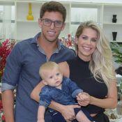 Bebê estiloso! Karina Bacchi produz filho com look jeans para aniversário. Fotos