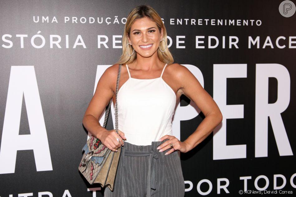 ee9ac7919 Lívia Andrade na pré-estreia do filme 'Nada a Perder', no Teatro Bradesco,  em São Paulo, na noite desta terça-feira, 27 de março de 2018