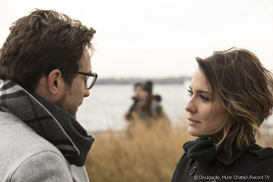 Zoe (Juliana Knust) e Benjamin (Igor Rickli) se reencontram e ele conta que agora serve ao Senhor a partir do capítulo de quinta-feira, 5 de abril de 2018 da novela 'Apocalipse'