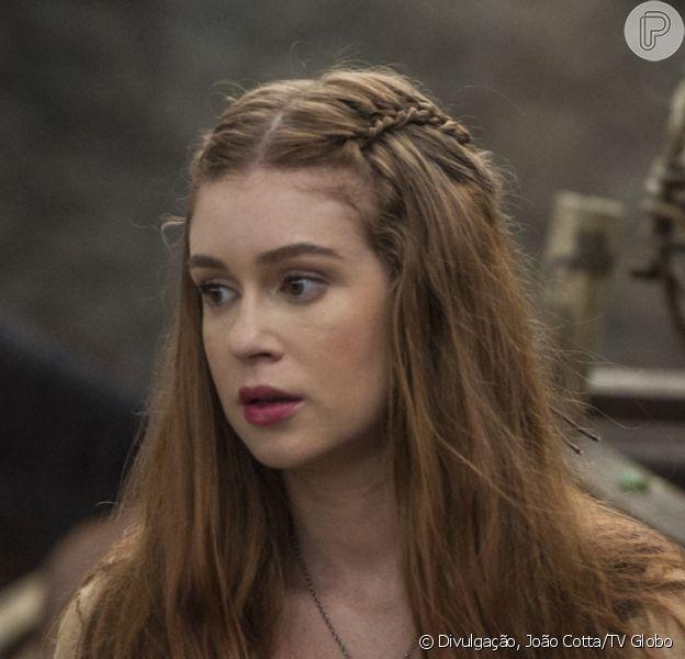 Amália (Marina Ruy Barbosa) fica entre a vida e a morte após ser picada por uma cobra na novela 'Deus Salve o Rei'