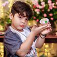 Yudhi, filho de Wesley Safadão, prestigiou festa da mãe, Mileide Mihaile