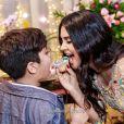 Filho de Wesley Safadão, Yudhi posou para fotos com a mãe, Mileide Mihaile