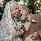 De tênis e véu, Fernanda Montenegro grava casamento em 'O Outro Lado do Paraíso'