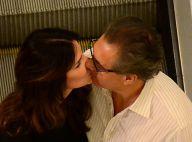 Lisandra Souto e marido, Gustavo Fernandes, se beijam em passeio por shopping