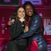 Iza canta hit da Copa com Daniela Mercury e realiza sonho: 'Ela me inspira'