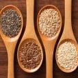 As sementes de chia e de linhaça também são fontes de ômega 3