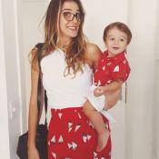 Rafa Brites combina estampa de saia com camisa do filho: 'Sua mãe é cafona'