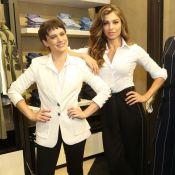 A moda é P&B! Grazi Massafera e Bianca Bin usam preto e branco em evento. Fotos!