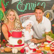 Karina Bacchi faz festa de 8 meses do filho com tema cantina italiana. Fotos!