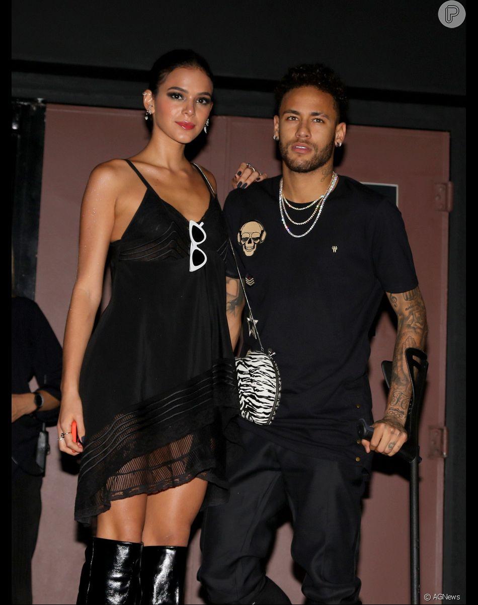 Confira detalhes da primeira entrevista de Neymar com Bruna Marquezine