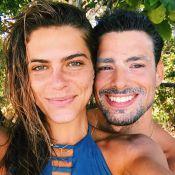 Em viagem, Mariana Goldfarb sente saudade de Cauã Reymond: 'Te amo'