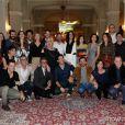 Elenco de 'O Rebu' posa reunido durante coletiva de imprensa