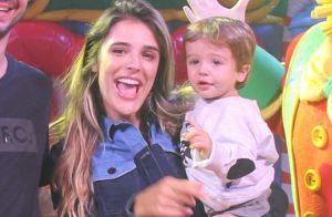 Rafa Brites e Felipe Andreoli levam o filho, Rocco, para curtir circo. Fotos!