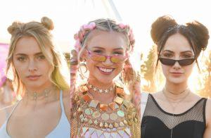 Coques duplos e tranças dominam penteados do festival Coachella. Inspire-se!