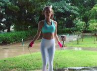 Marina Ruy Barbosa pula corda e incentiva fãs: 'Já treinaram hoje?'. Vídeo!