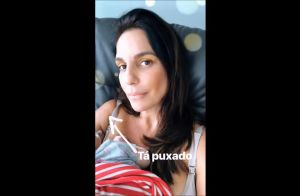 Momento fofo! Ivete Sangalo posta vídeo com uma das gêmeas no colo: 'Tá puxado'