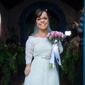 'O Outro Lado do Paraíso': Estela usa vestido de renda em casamento com Amaro