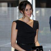 Meghan Markle usa look inspirado em Jackie Onassis em evento com Príncipe Harry