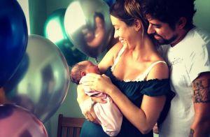 Juliana Didone mostra 1ª foto com a filha, Liz: 'Com seu nascimento, renasci'