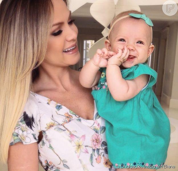 Eliana mostrou a filha, Manuela, em uma foto cheia de fofura neste domingo, 29 de abril de 2018