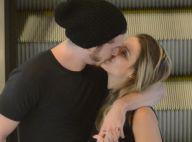 Caio Paduan troca beijos com a namorada, Djéssica, em shopping do Rio. Fotos!