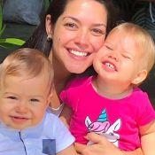 Thais Fersoza baba pelos filhos, Melinda e Teodoro: 'Meus maiores amores'