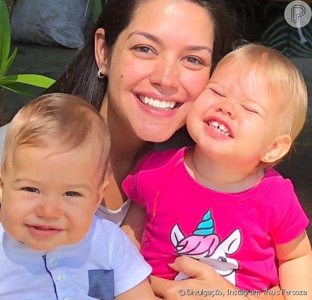 Thais Fersoza babou pelos filhos, Melinda e Teodoro: 'Meus maiores amores'