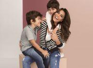 Diversão em família! Juliana Paes posa com filhos em campanha do Dia das Mães