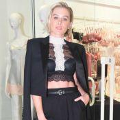 Fiorella Mattheis combina alfaiataria e renda em look: 'Adoro lingerie à mostra'