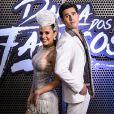 Nicolas Prattes e Mayara Araújo trocaram beijos no 'Dança dos Famosos', em 2017