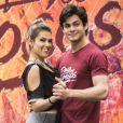 Lucas Veloso e Nathalia Mello formaram dupla no 'Dança dos Famosos'
